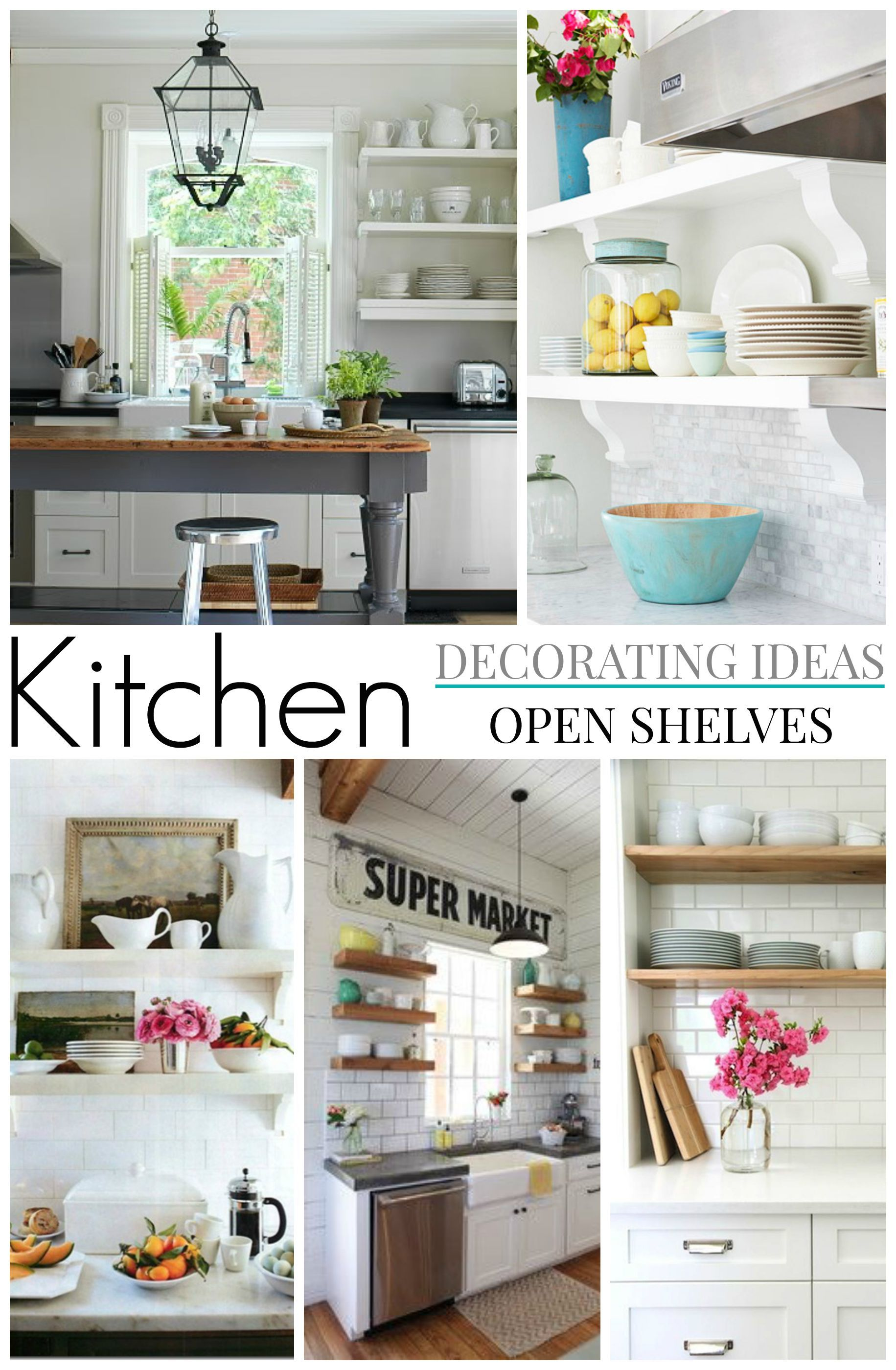Gathering Ideas & Sharing inspiration For Our Guest Cottage Kitchen - Comparing shiplap to planked walls, and deciding on open shelf brackets and styles. #kitchen #kitchenideas #kitchendesign #openshelf #shelf #farmhousekitchen #cottagekitchen #kitchendecoratingideas