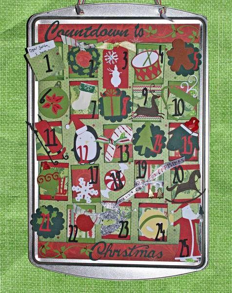 Christmas Cookie Sheet Advent Calendar