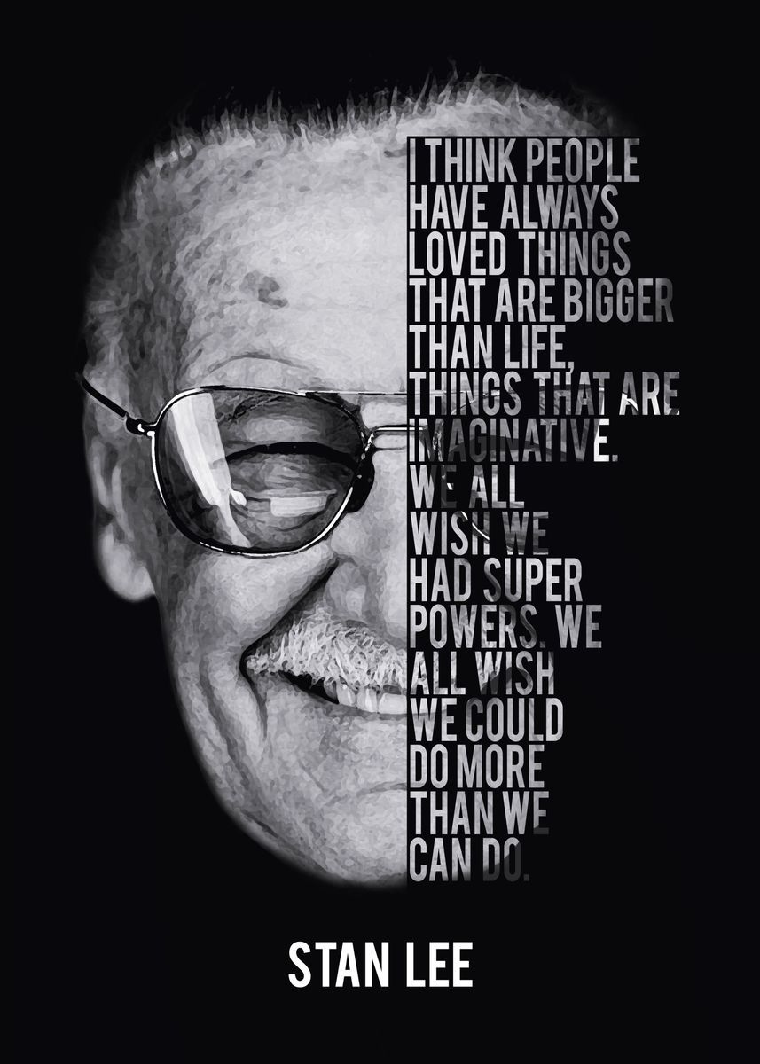 'Stan Lee Tribute ' Poster Print by Nerdworld 1 | Displate
