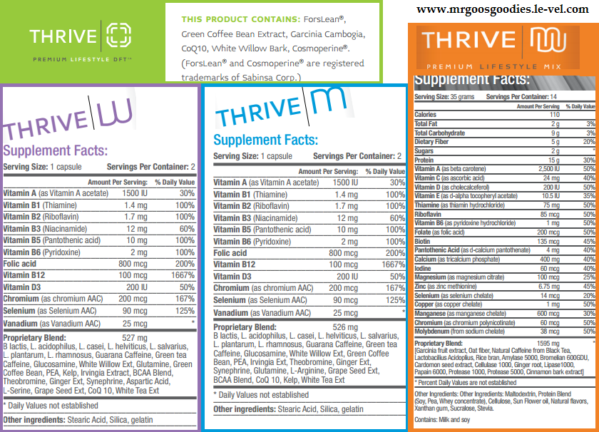 THRIVE PRODUCT INGREDIENTS ITS FREE TO SIGN UP !!!! www