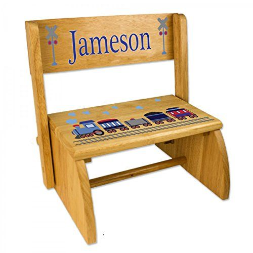 #trendy The #wonderful design of a #personalized flip step stool allows for it to be folded down into a comfortable little bench. Elegantly decorated with our tra...