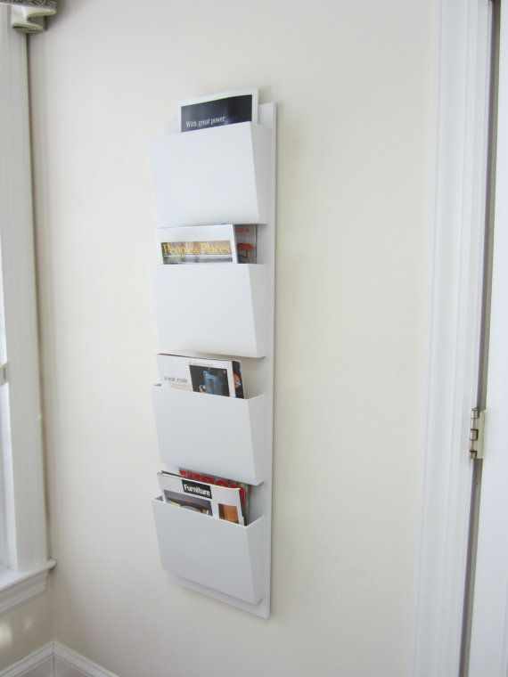 4 Section Wall Mail Organizer With Four Large Magazine Sized Boxes Simple Sleek Elegant Well