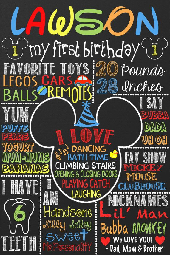 Mickey Mouse 1st Birthday, Mickey Mouse Birthday idea, first