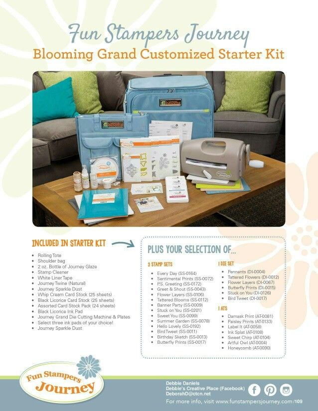 Our awesome Starter Kit is only $99 January!   I would love for you to join my team. Www.funstampersjourney.com/109