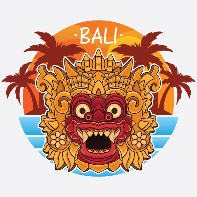 design bali island logo bali mask drawing bali island pinterest