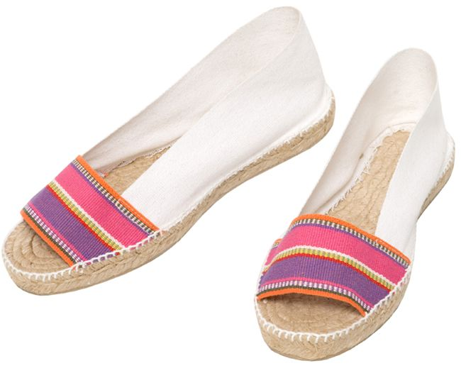 KIKA eapadrilles at espadrillesetc.com  A gamine, a coquette, KIKA- a bemused adventuress.   Cotton canvas upper hand stitched to jute espadrille platform with full rubber coating on bottom.   Made in Spain  Price : United States and non-EEC countries : $46.00 Countries within EEC (including VAT) :  36.00€