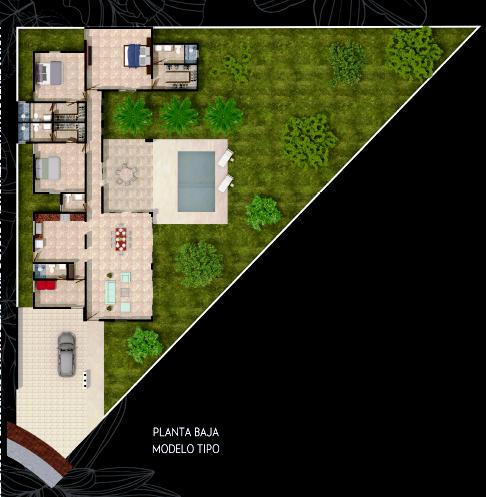 Casa De Una Planta En Venta En Conkal Planos De Casas Casas De Una Planta Futbol De Salon