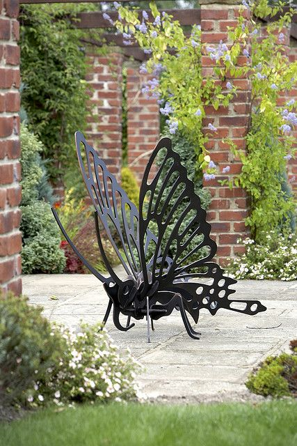 Large Butterfly Sculpture Butterfly Garden Art Metal Yard Art