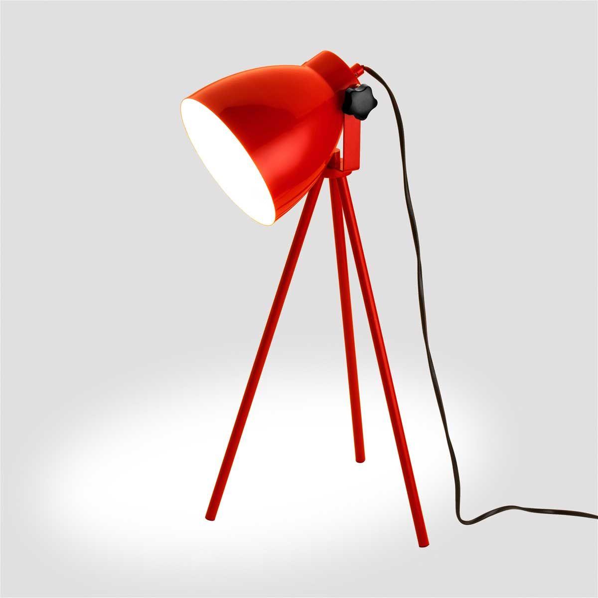 Luminária Tripé Vermelha
