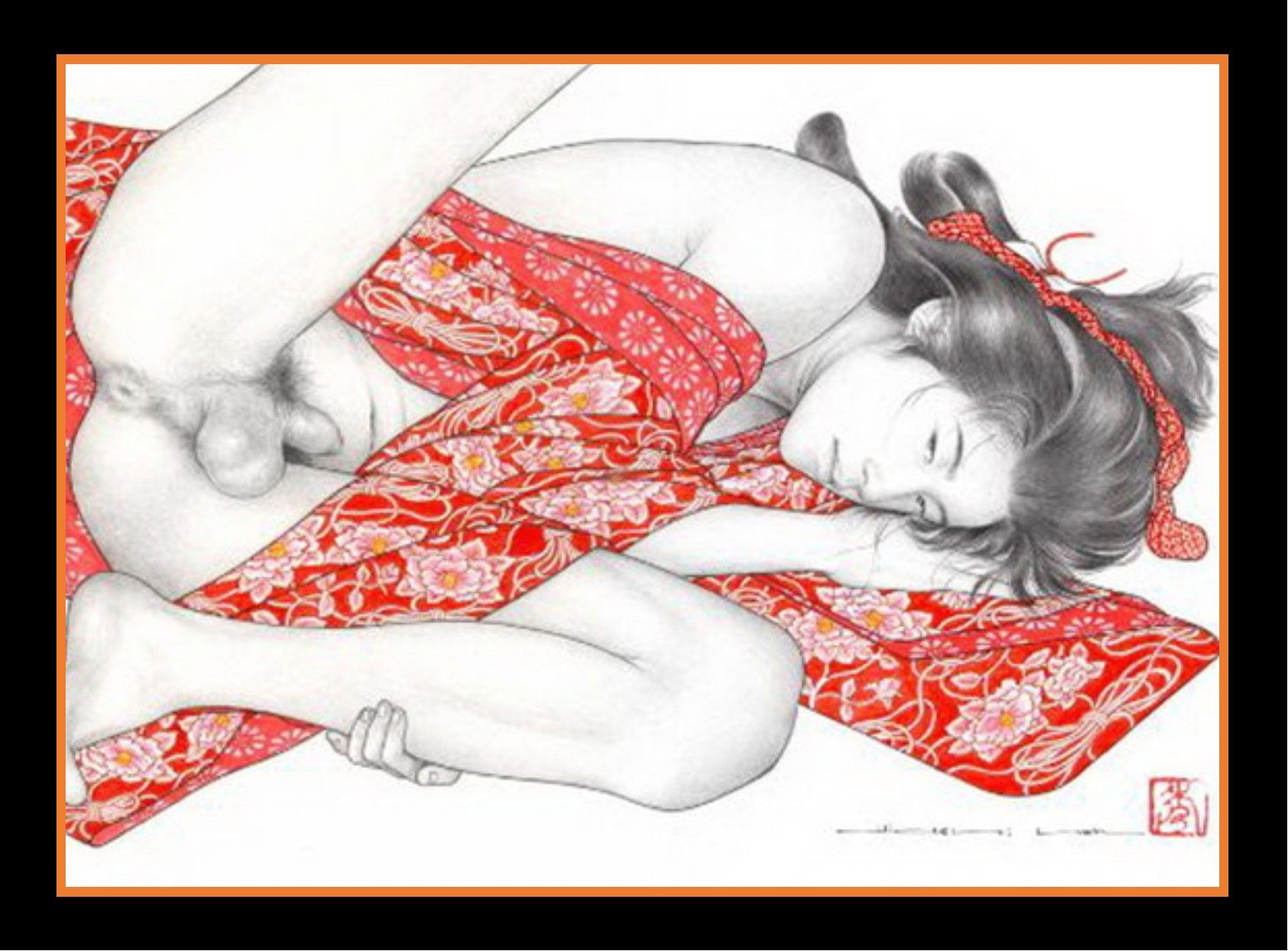 Japanese male erotic art