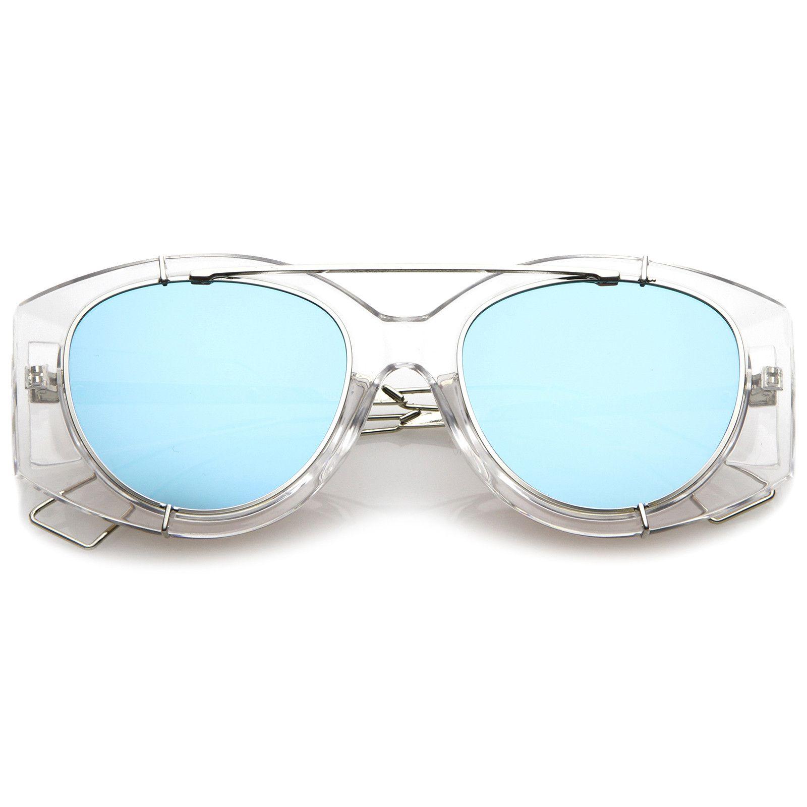 Futuristic Translucent Wire Metal Arms Crossbar Mirrored Flat Lens ...