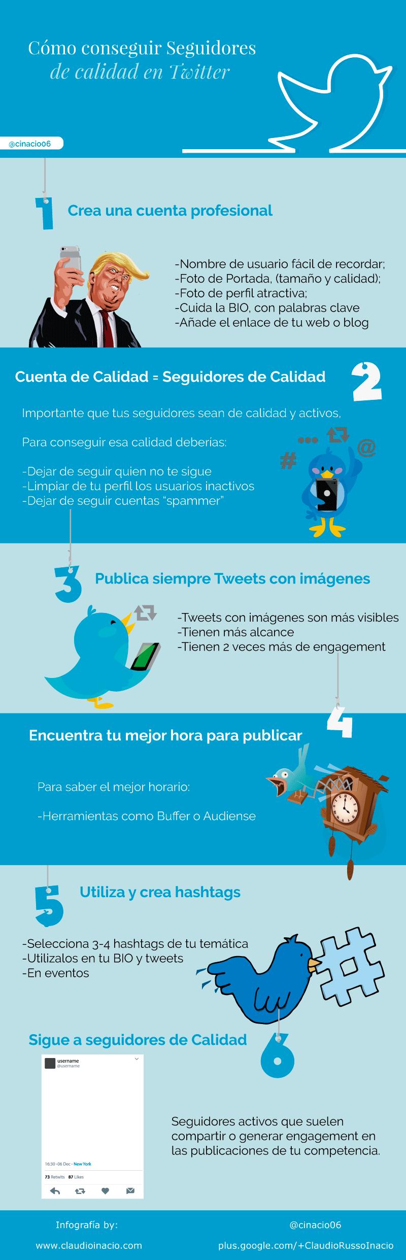Cómo Conseguir Seguidores De Calidad En Twitter Infografia Infographic Socialmedia Tics Y Formación Estrategia De Marketing Digital Estrategias De Marketing Redes Sociales