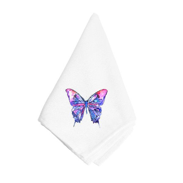 Pink and Purple Butterfly Napkin 8859NAP