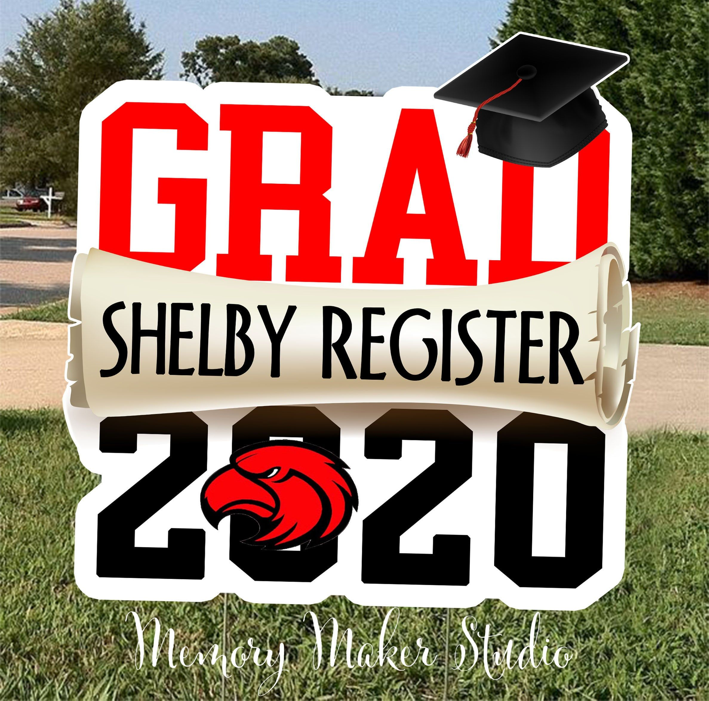 Personalized Class of 2020 Graduation Yard Sign Congratulations Graduate
