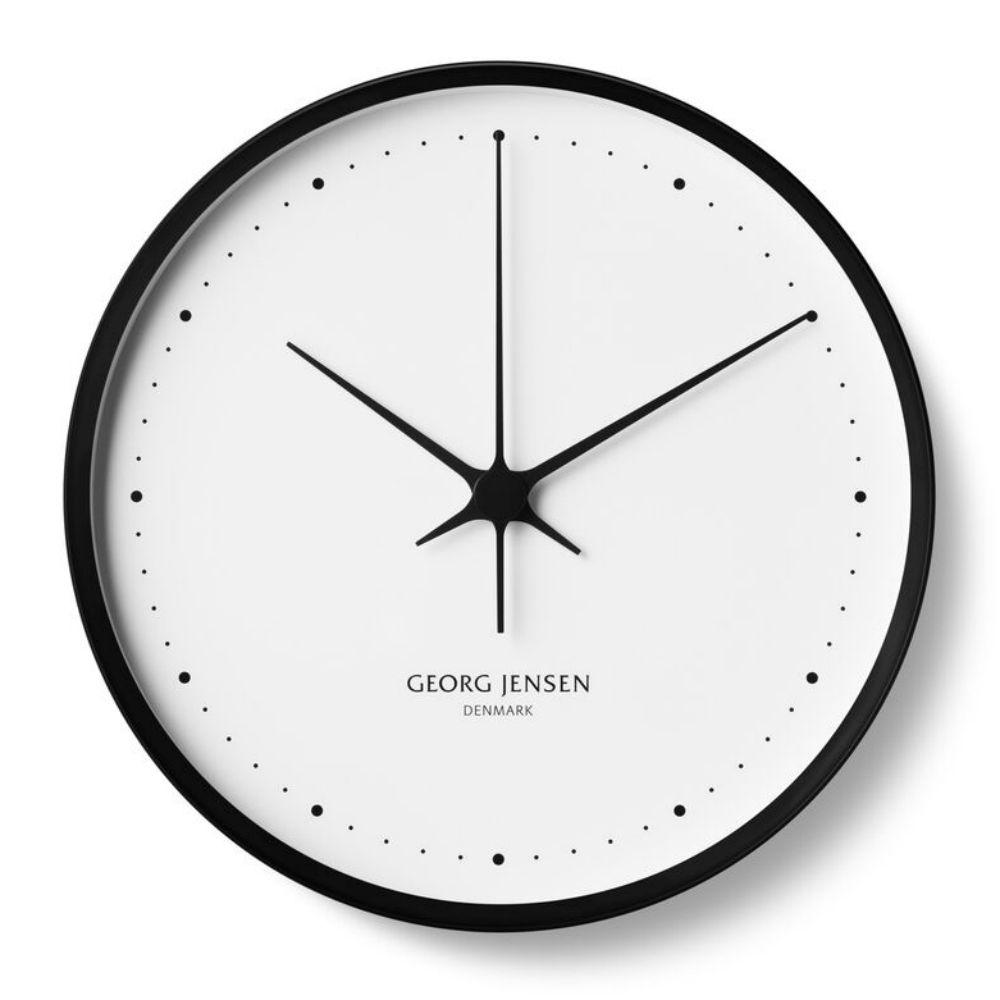 Georg Jensen Koppel Modern Classic Black Stainless Steel Wall Clock 11 81 In 2020 Henning Koppel Wall Clock Wall Clock Black And White