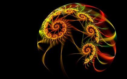 fractals | fractals rasta black background