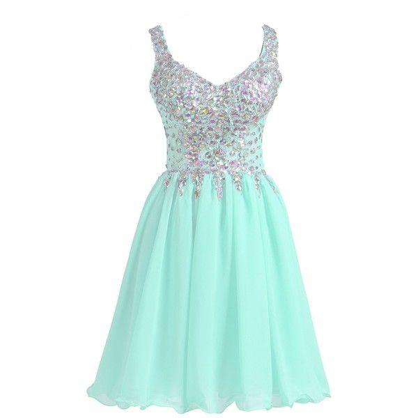 Amazon.com: VogueDress Women's Short/Mini Halter A Line/Princess... (140 CAD) ❤ liked on Polyvore featuring dresses, short halter dress, homecoming dresses, short cocktail dresses, halter top and blue cocktail dresses