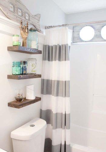 Diy Makeover Beach Themed Bathroom Decor Style Boys Bathroom