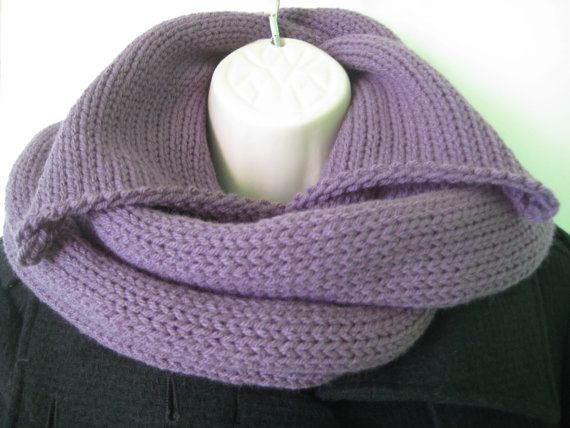 Knit Infinity Collar Scarf Knit Neck Warmer by BeyondFiberBoutique, $38.00