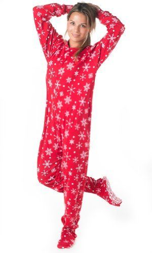 2cd6a0d3e1 Do i dare do this to my teenager  Footed Pajamas White Christmas Adult  Cotton -