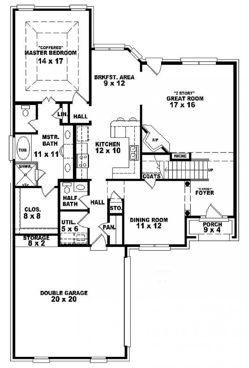 654105 Two story 3 bedroom, 2.5 bath french country
