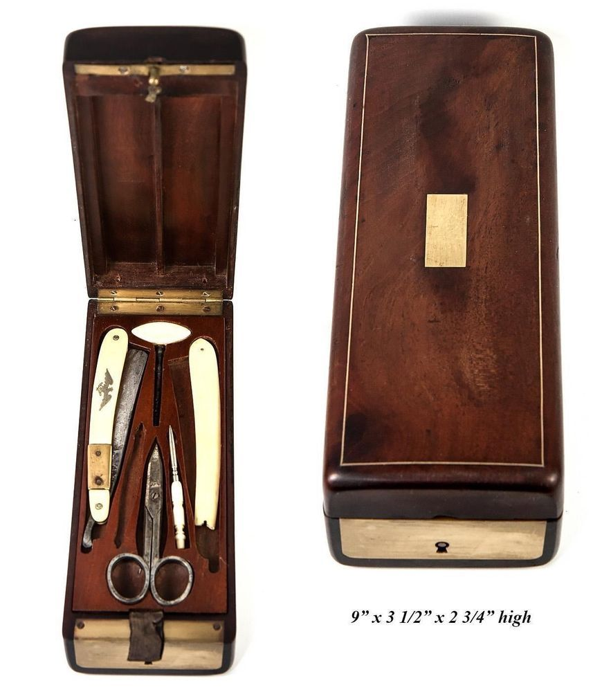 Antique French Military Officer's Shave & Vanity Kit, c 1800