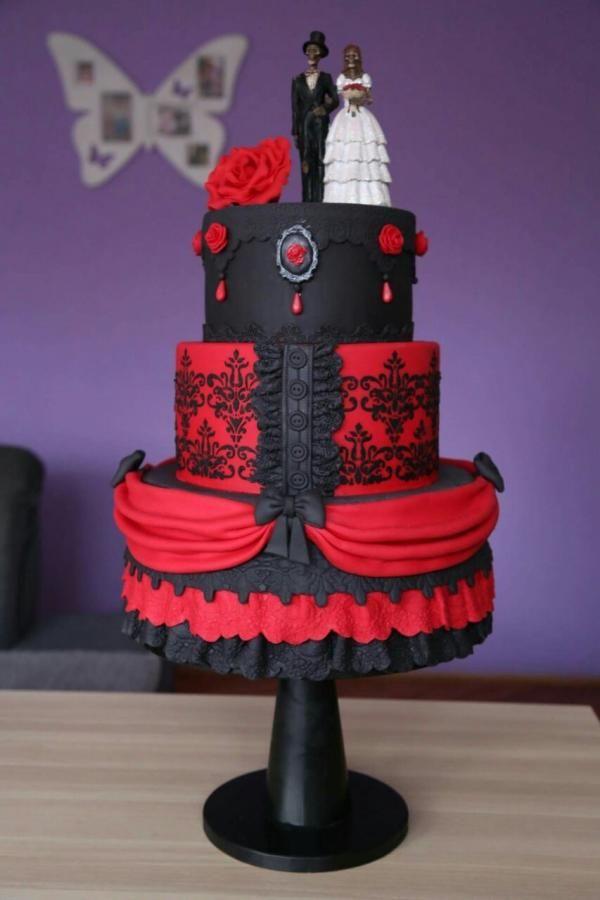 Gothic wedding cake - Cake by Zaklina