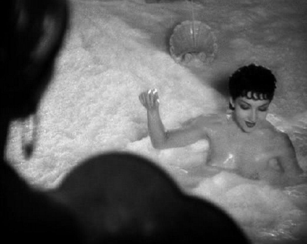Claudette colbert famously went naked in a bath of milk when sign of the cross a super kinky biblical film by cecil b demille and released in which included nudity male sex slaves lesbianism beastiality and biocorpaavc