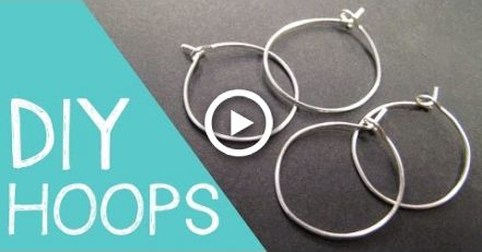 Photo of DIY Hoop Earrings / Wine Charm Rings Wire Jewelry Tutorial