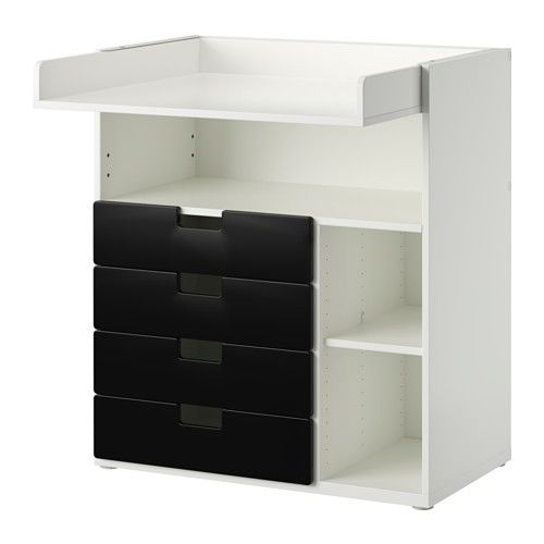 Ikea Stuva Changing Table With 4 Drawers White Black This Grows Your Child Lower The Top To Desired Height Transform It