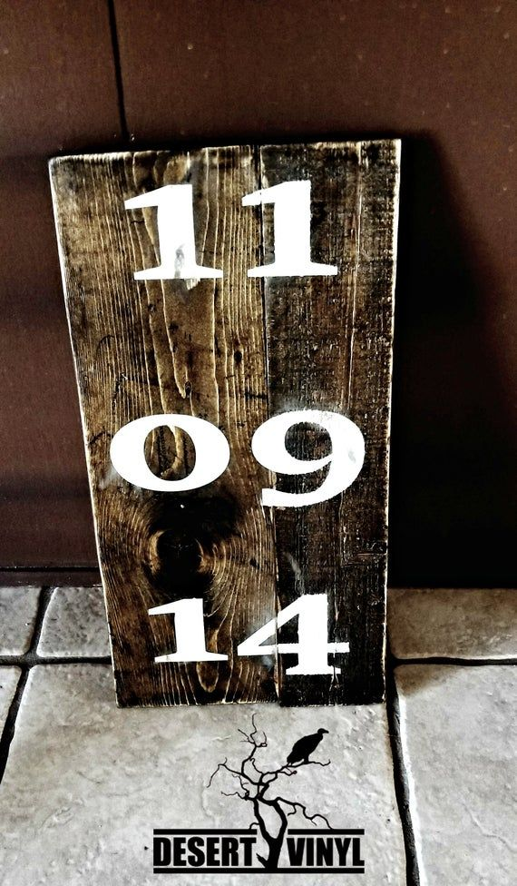Wedding Date Sign/ Established Date/ Custom Date Sign #pictureplacemeant
