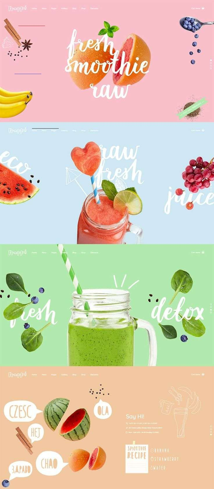 Landing Create a website to present your café or a juice bar, or start your healthy food blog with complete ease today using Frappé  WordPress theme.  #wordpress #webdesign #layouts #design #restaurant #cafe #bar #bistro #bakery #pub #cafeteria #coffeeshop #pizzeria #food #foodblog #recipes<br> We've Made Frappé The perfectly nectarous theme forsmoothie & juice bars Purchase The perfectly nectarous theme for smoothie & juice bars Main Home A Delicious Introduction Showcase your ideas & what your