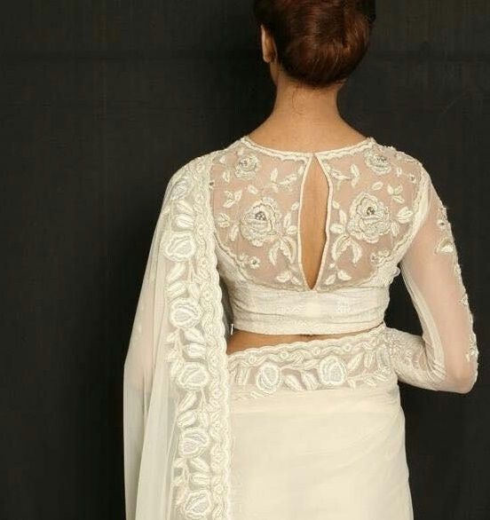 101 Stunning Saree Blouse Back Neck Designs
