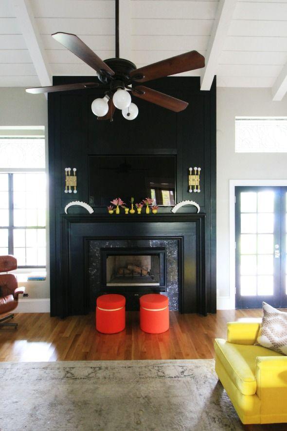 Less horrible looking ceiling fan - plain fan + giant round bulbs ...