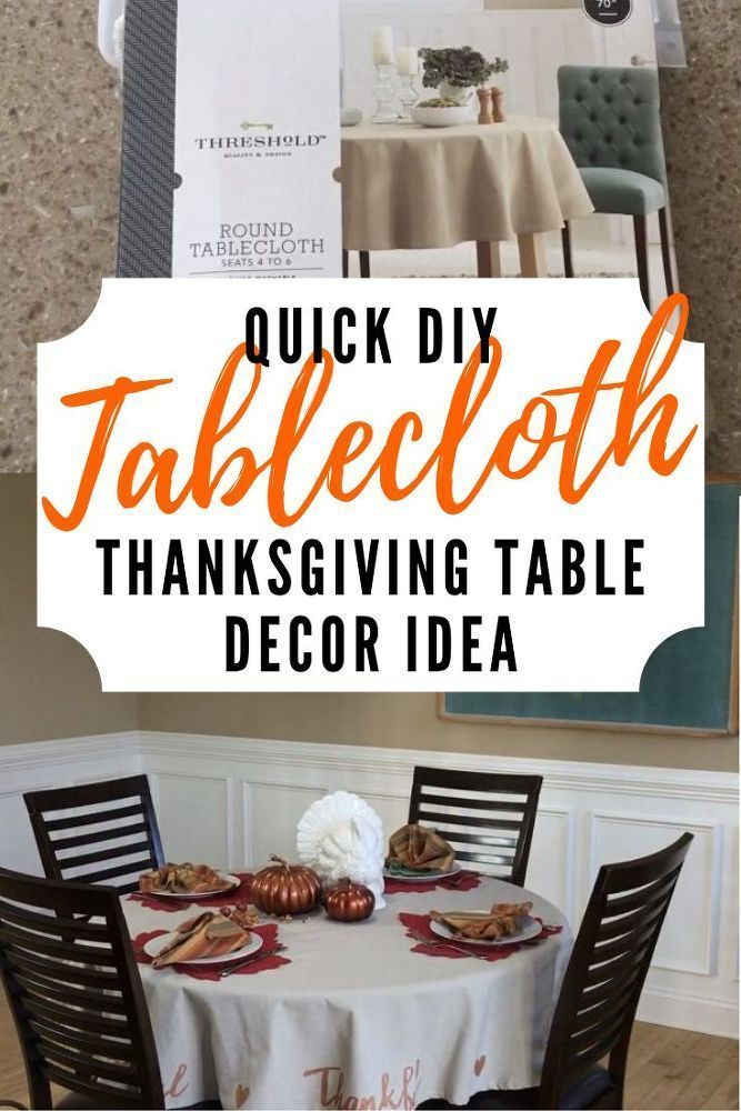 Easy DIY Thanksgiving Dinner Table Decor #thanksgivingtablesettingideas Budget F…