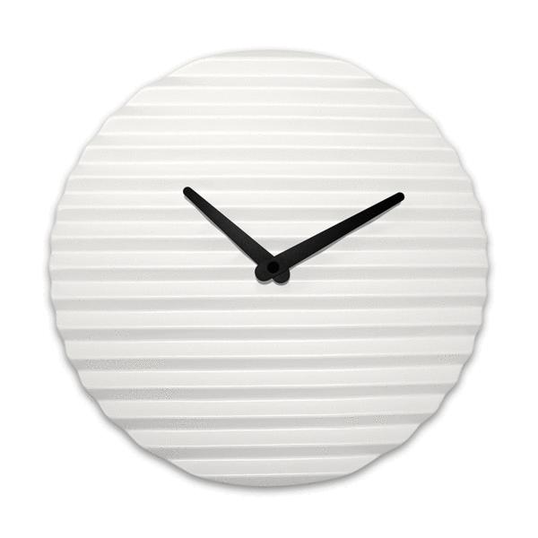 white wall clock, ceramic, Sabrina Fossi Design | Clocks and ...