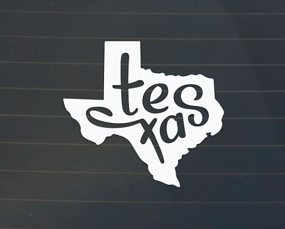 Texas car decal texas decal texas sticker