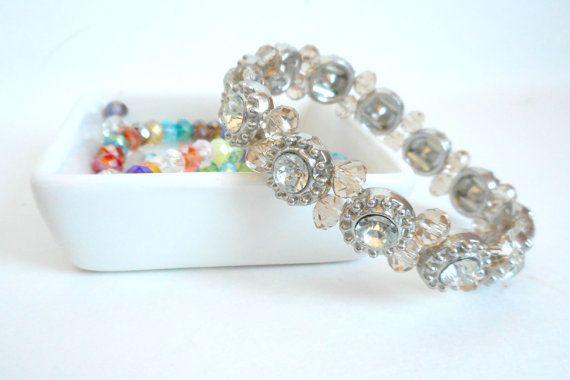 Crystal Bracelet Tennis Bracelet Silver Bracelet by 2FancyJewelry