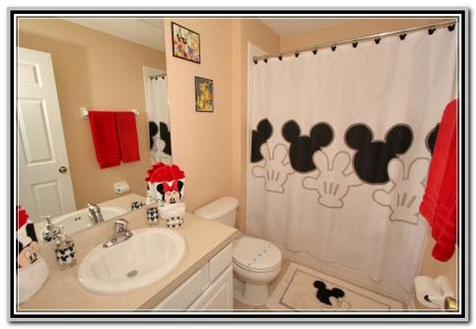 Mickey And Minnie Mouse Bathroom Set With Images Mickey Mouse