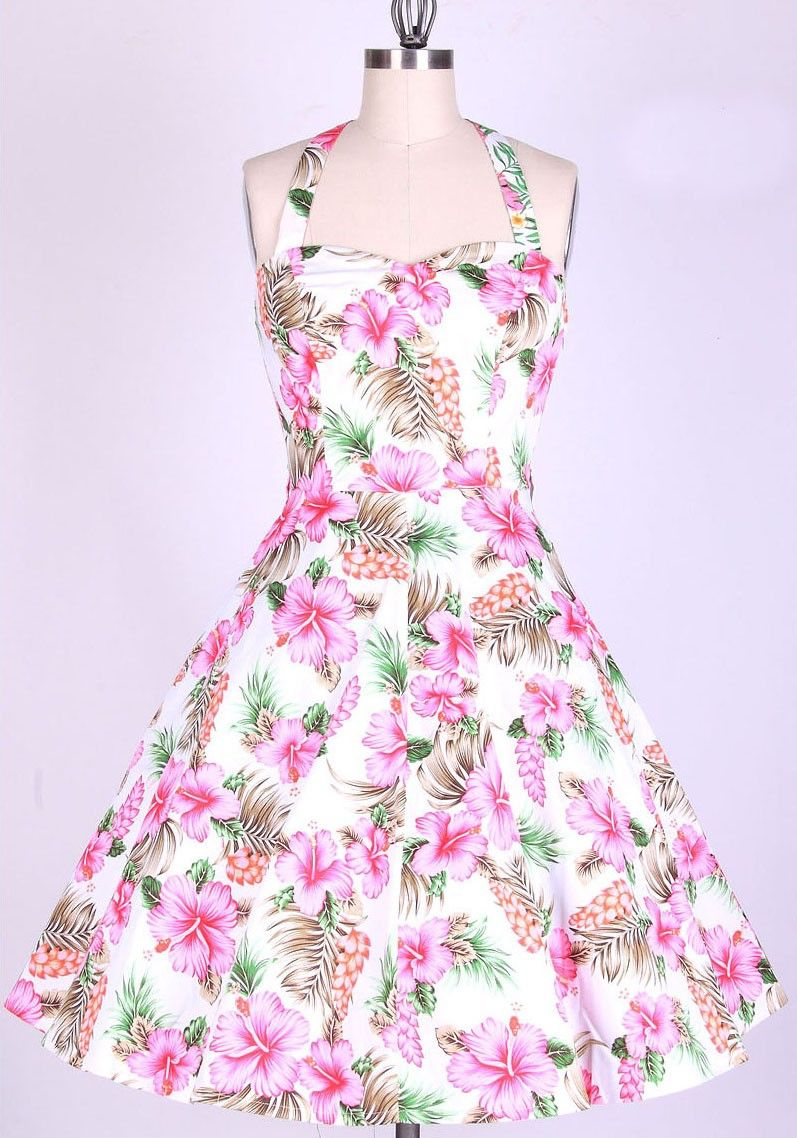 1950s rockabilly floral housewife dress  1950s Floral Dress ...