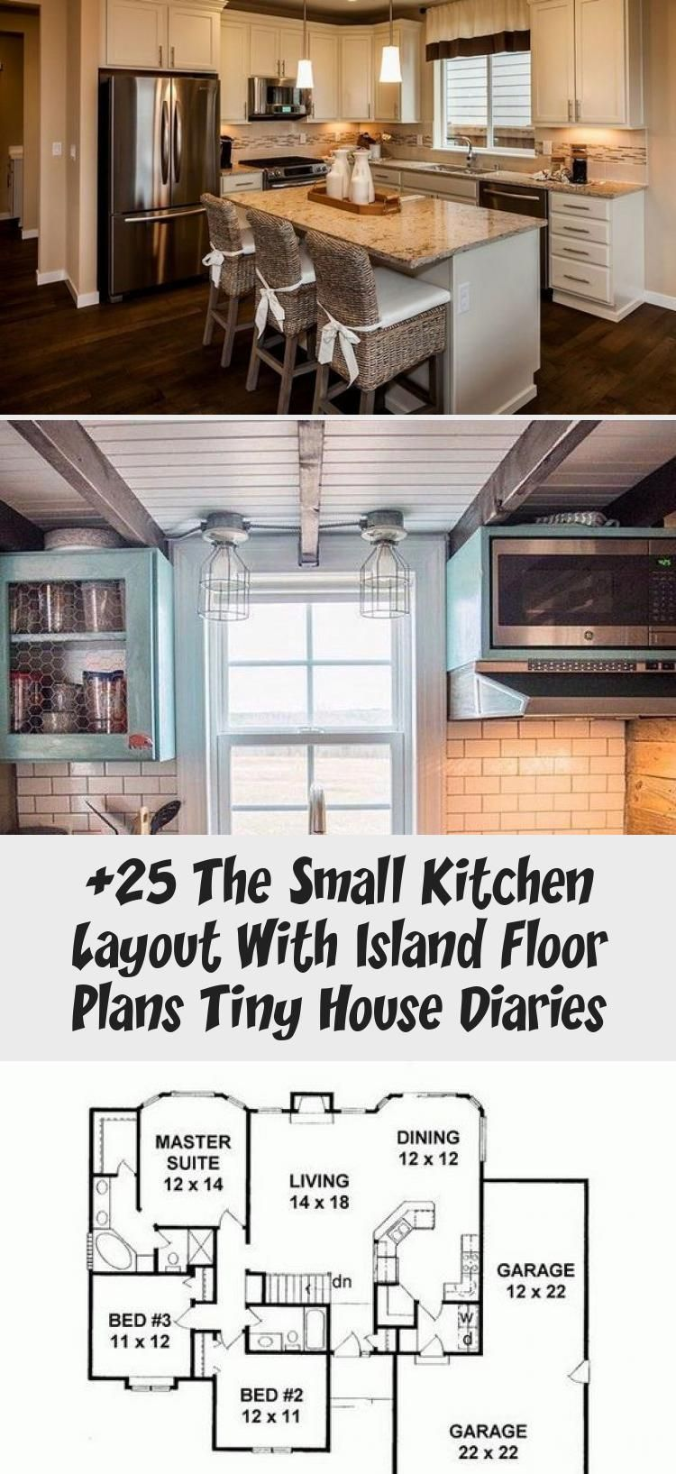 9 The Small Kitchen Layout with Island Floor Plans Tiny House ...