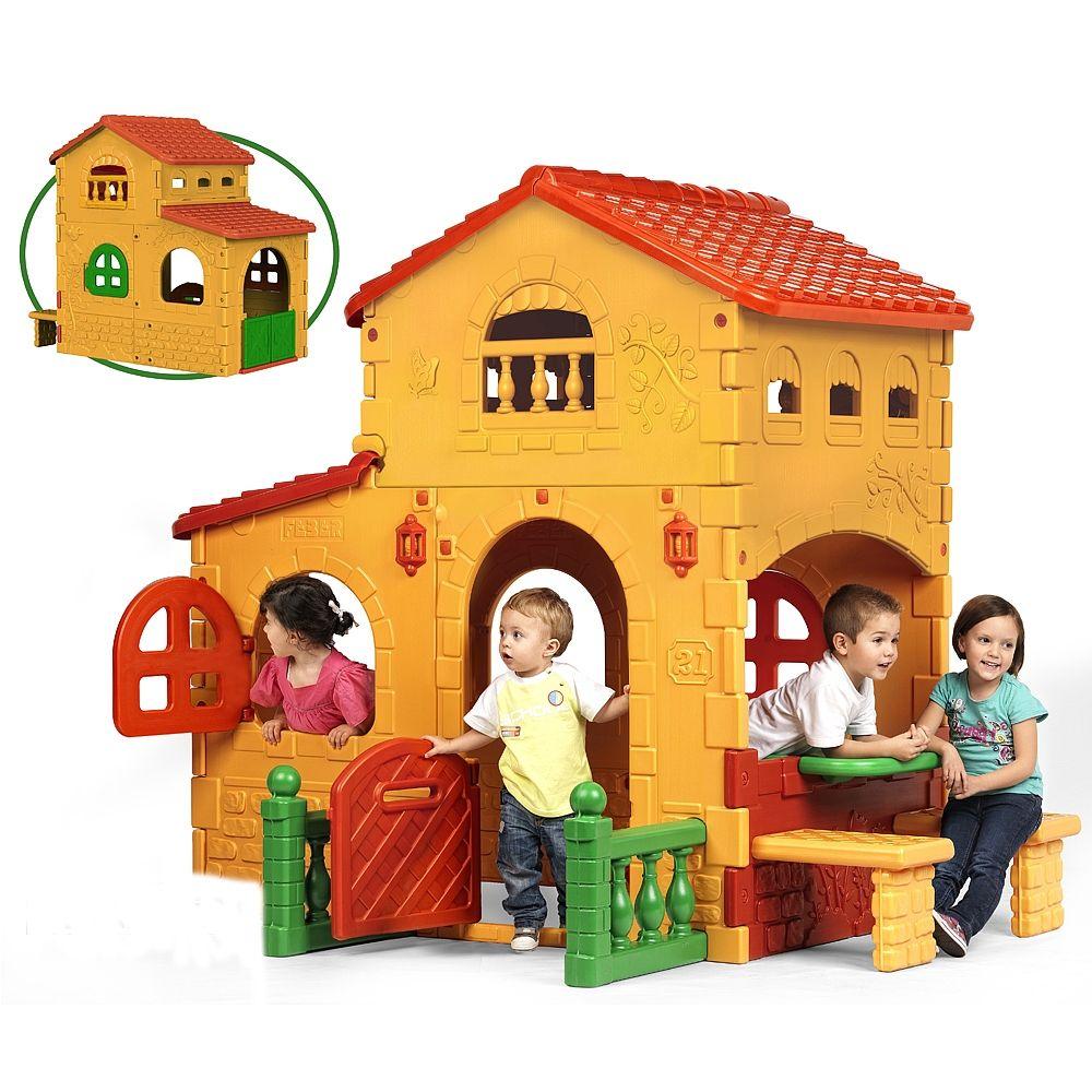 Una casita con puerta con buz n de cartas y ventanas abatibles como una casa real sol - Casitas de tela para ninos toysrus ...