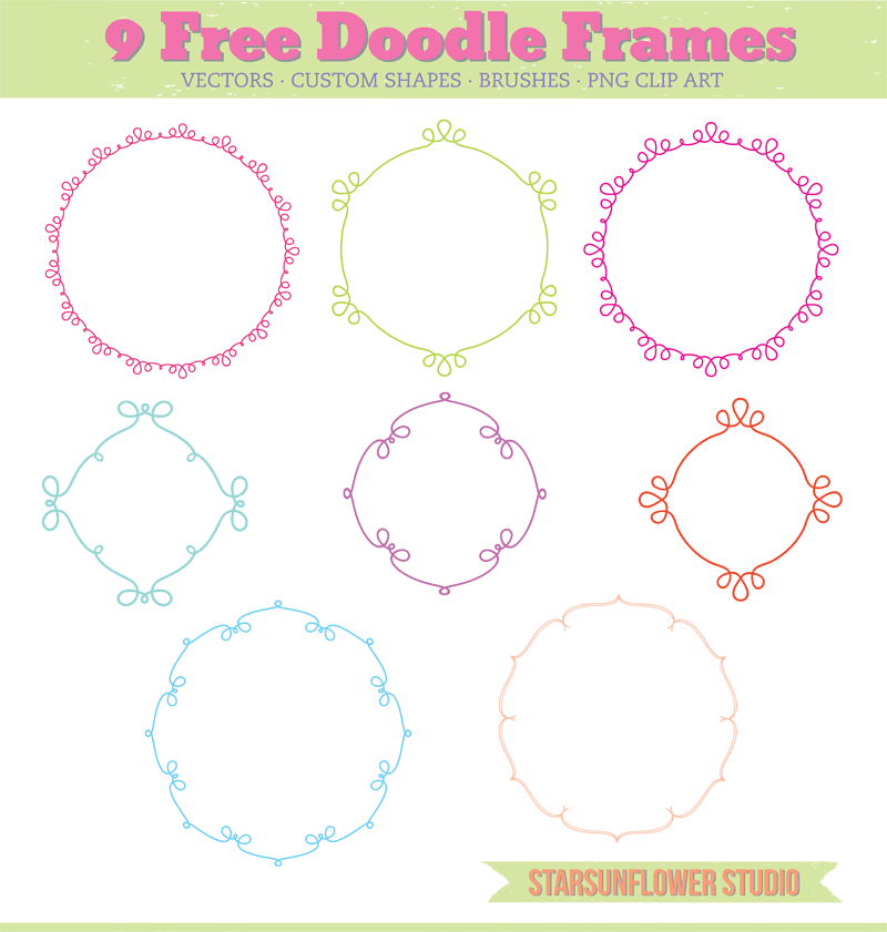 photography border, free vectors, free vector download, doodle frame ...