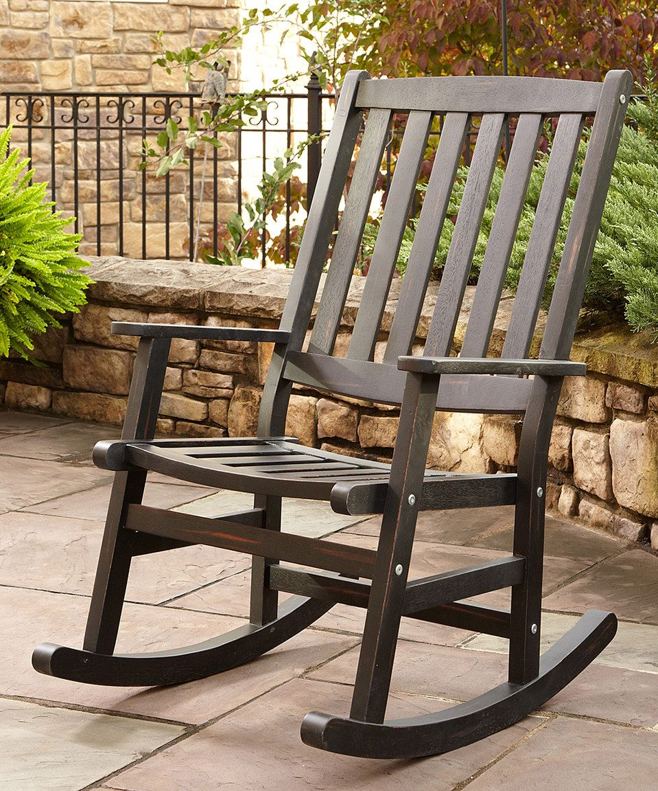 Love this Black Bali Hai Outdoor Rocking Chair by Home Styles on #zulily! #zulilyfinds