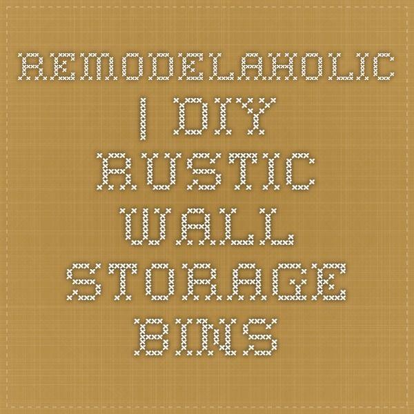 Remodelaholic   DIY Rustic Wall Storage Bins