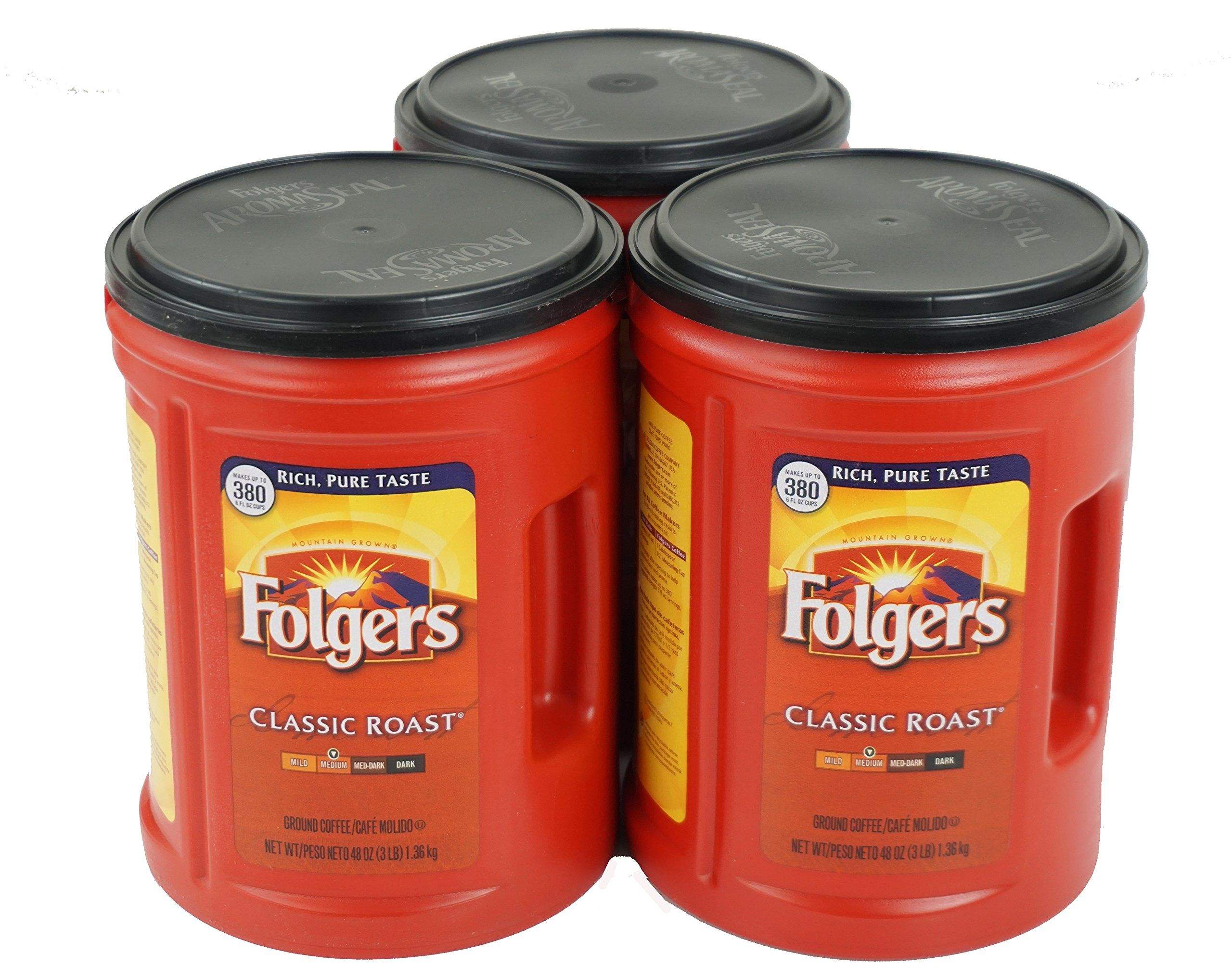 Folgers classic medium roast coffee 3pack of 48 ounce