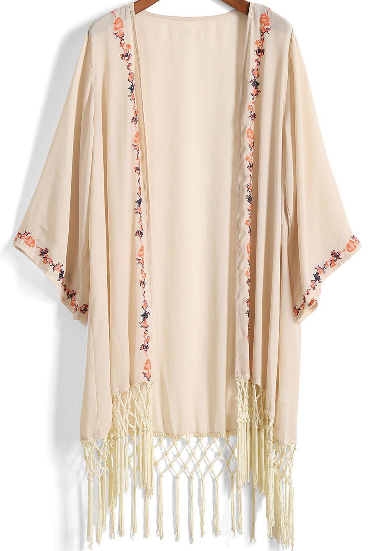 Kimono bordado flecos gasa -albaricoque 16.26   Looks I would wear ...