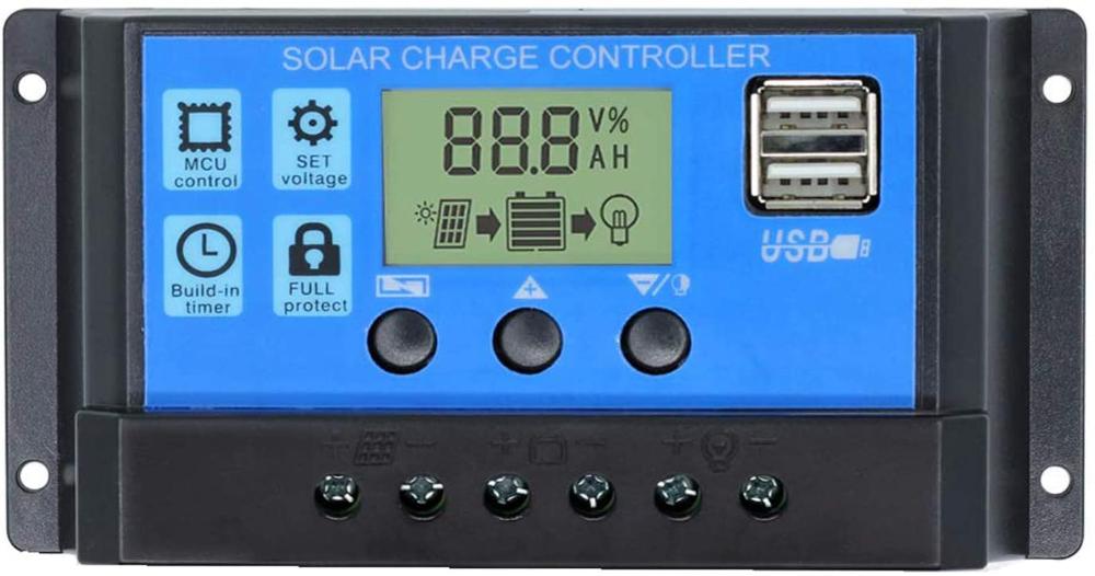 Amazon Com 30a Solar Charge Controller Solar Panel Charge Controller 12v 24v Dual Usb Charge Regu Solar Power House Solar Panel Battery Portable Solar Power