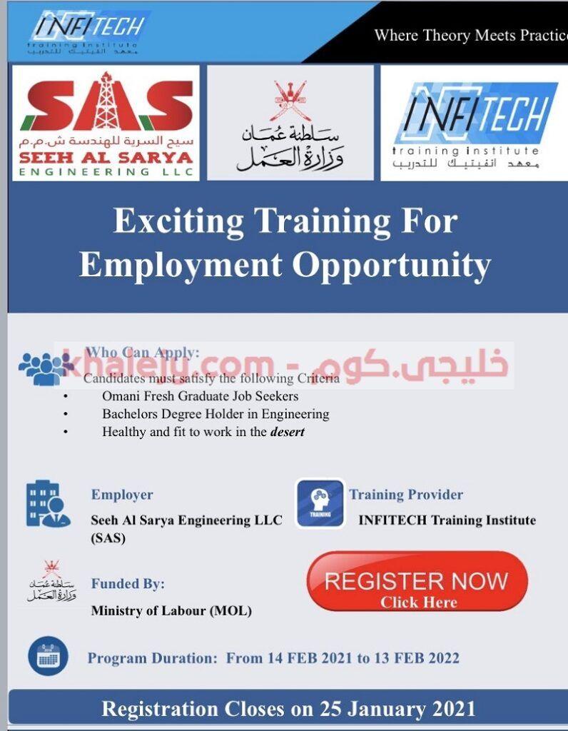 ننشر لكم إعلان تدريب مقرون بالتوظيف للخريجين التي أعلنت عنها شركة سيح السرية للهندسة بالتعاون مع وزارة العمل In 2021 Graduate Jobs Job Seeker Employment Opportunities