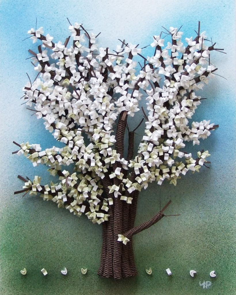 Cherry Blossom Paper Quilling Flowers Quilling Quilled Tree